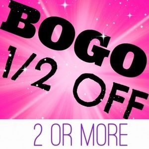 SUNDAY ONLY 1/2 OFF ANY 2 OR MORE ITEMS!!
